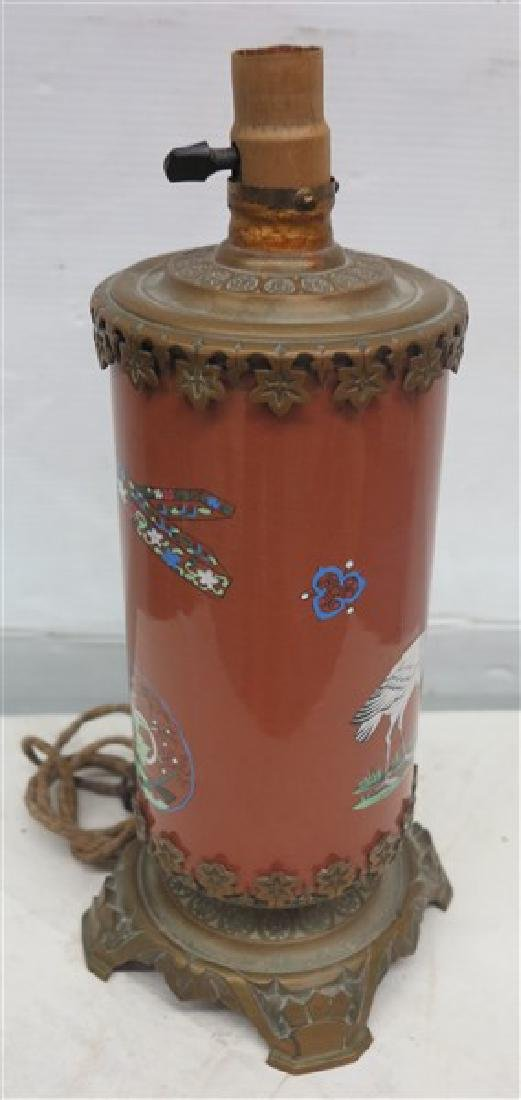Bronze Mounted Oriental Lamp