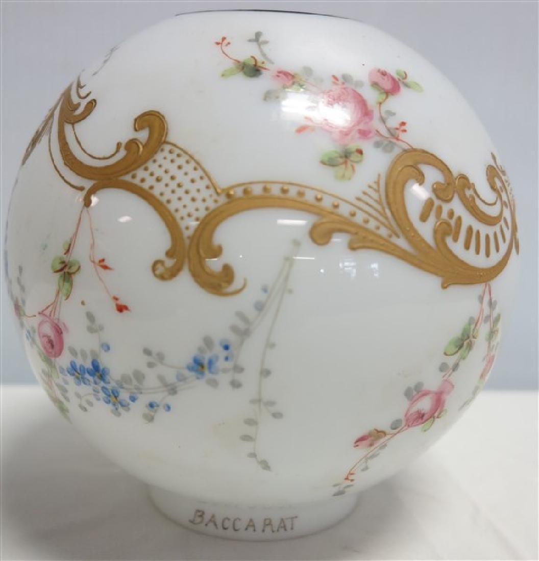 """Signed Baccarat Hand painted Shade- 5"""""""