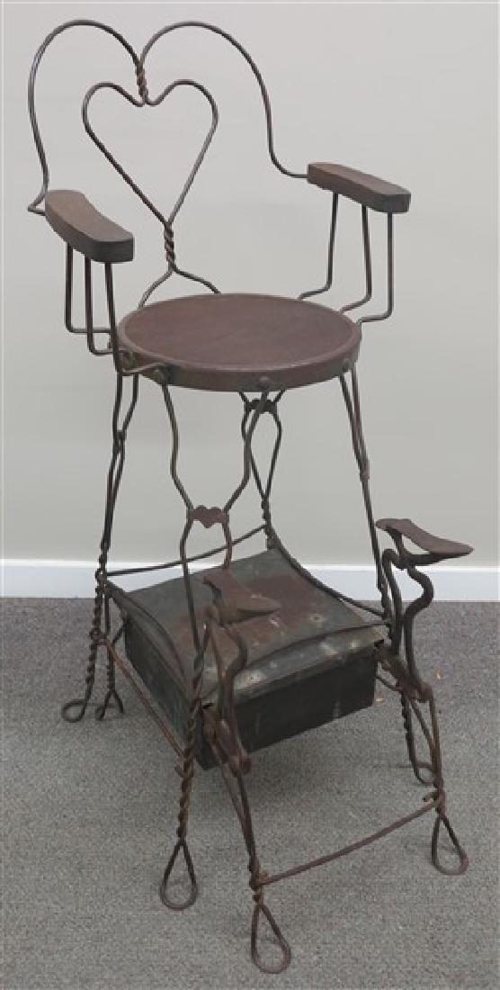Iron Shoe Shine Chair