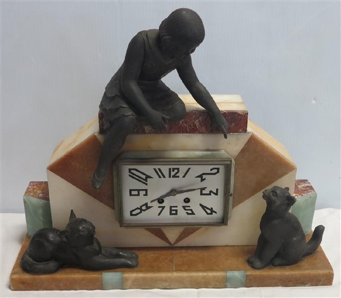 Marble Art Deco Clock
