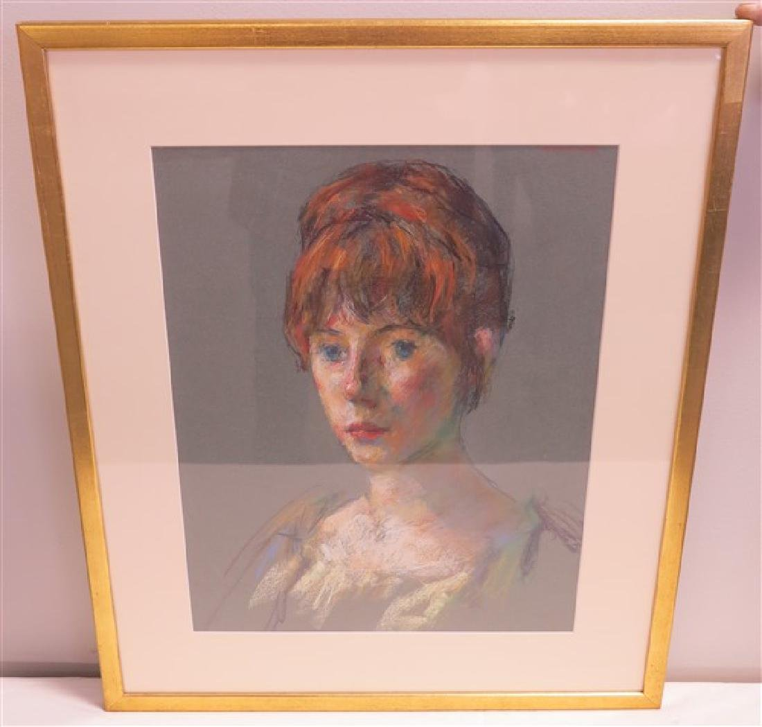 Lovely Framed Pastel Portrait