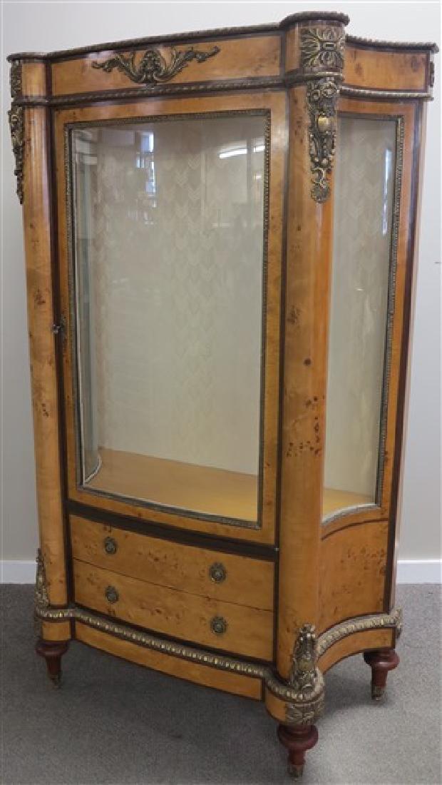 Stylish Burl 1 Door Cabinet