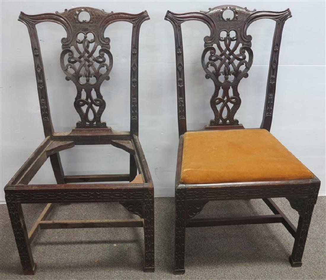 2 Nice Chinese Chippendale Chair Frames