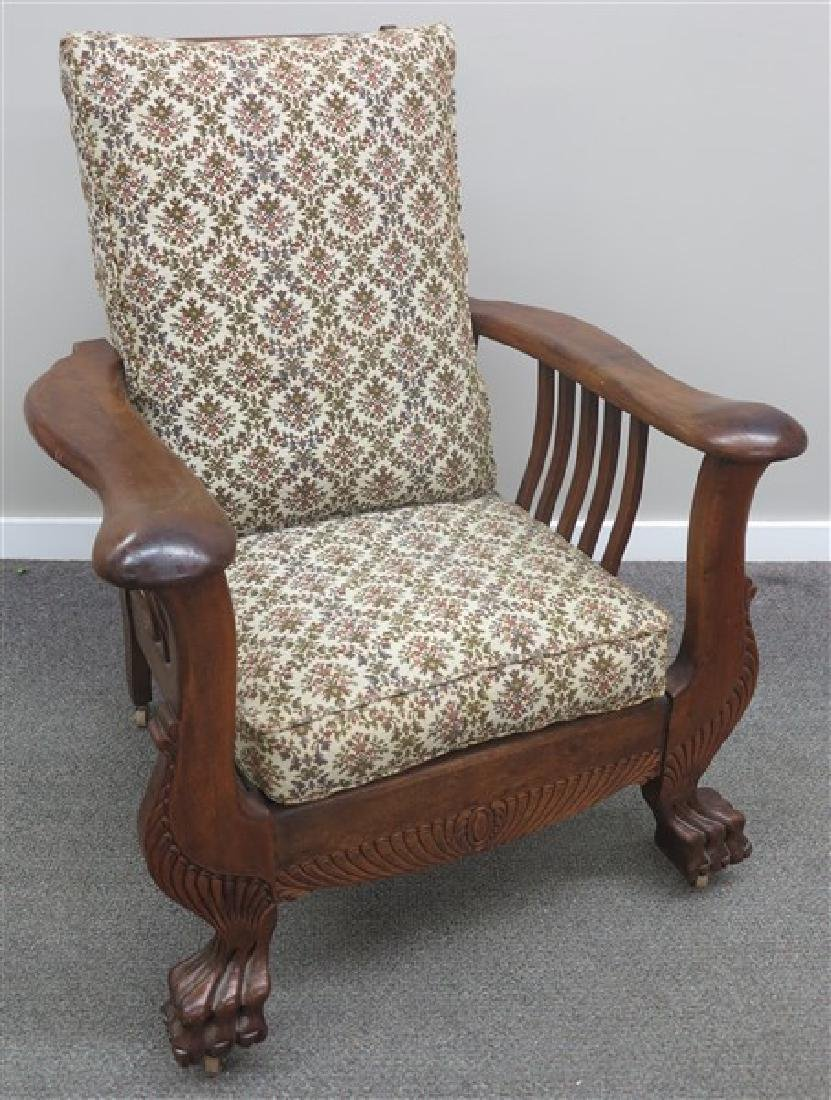 Extra Nice Morris Chair w/leather ottoman