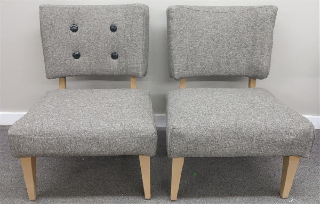 2 Modern Upholstered Chairs