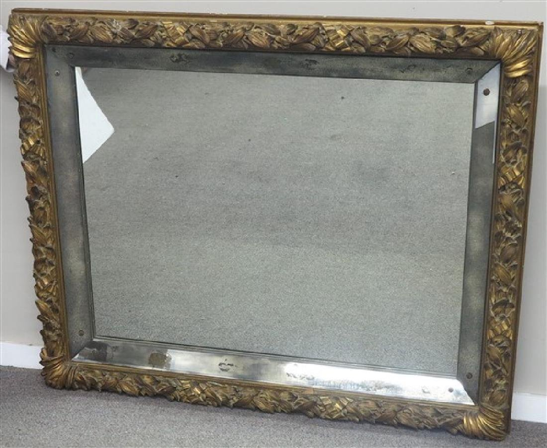 Stunning Carved Gilt Wood Mirror