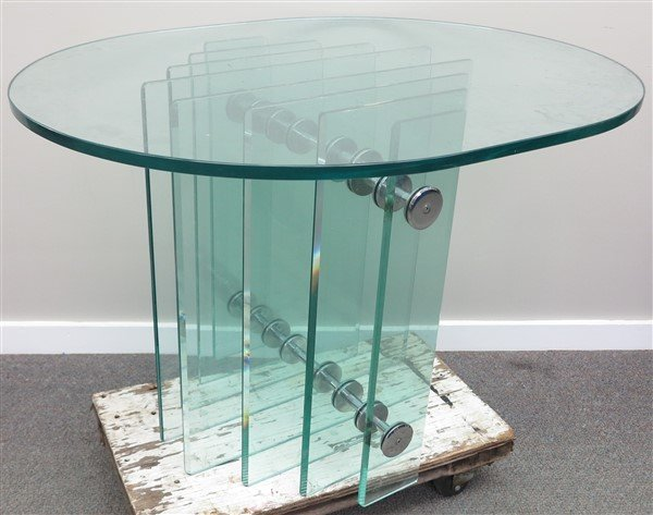 Deco Glass Top Table