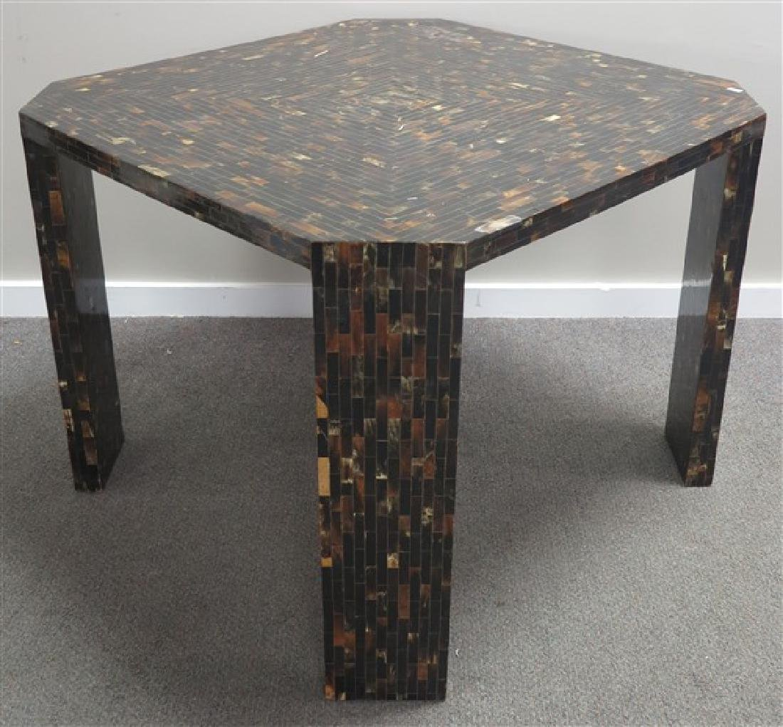 "Shaved Horn Table 38"" Square"