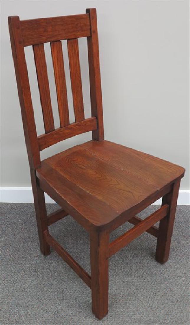 2 Piece Oak Lot- Hall Tree & Mission Side Chair - 2