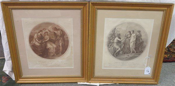 2 Framed Classical Prints