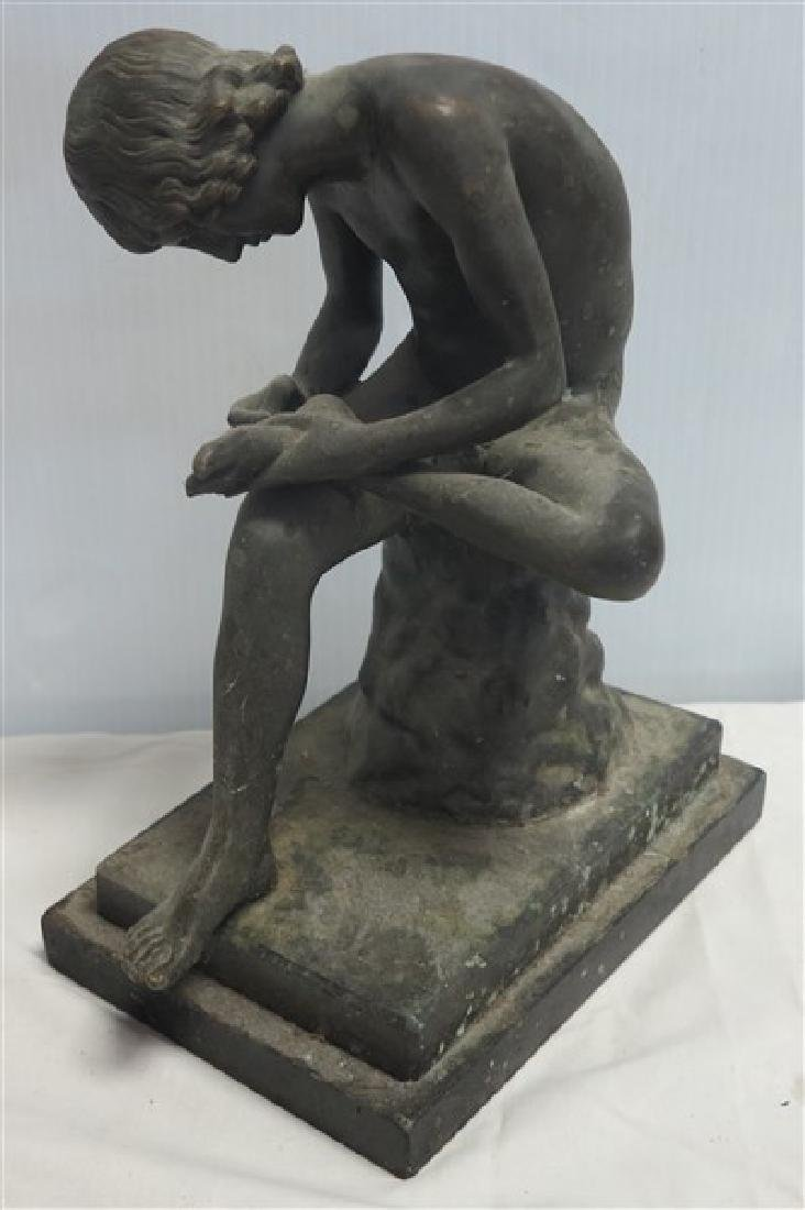 "11"" Seated Bronze Figure"