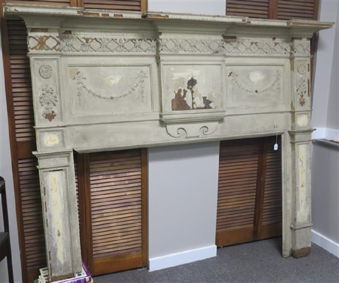 Federal Oversized Mantel- AS FOUND