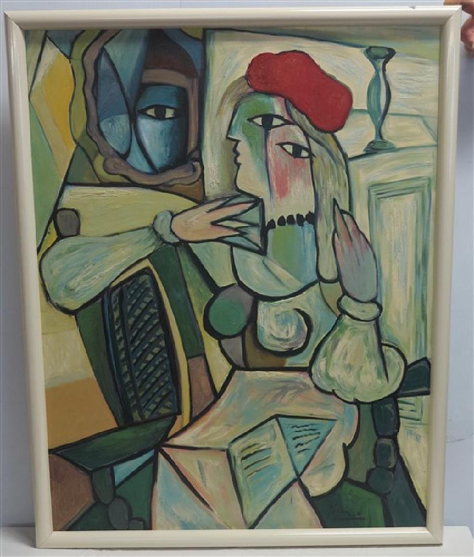 """o/c Abstract signed Picasso 29.5"""" x 37.5"""""""
