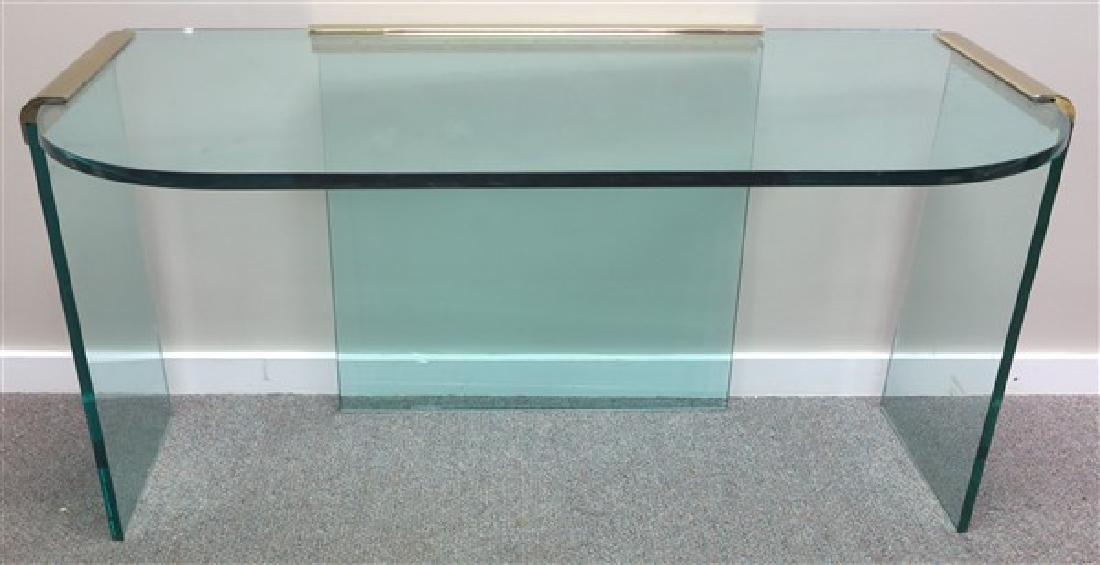 High Style Glass Console Table