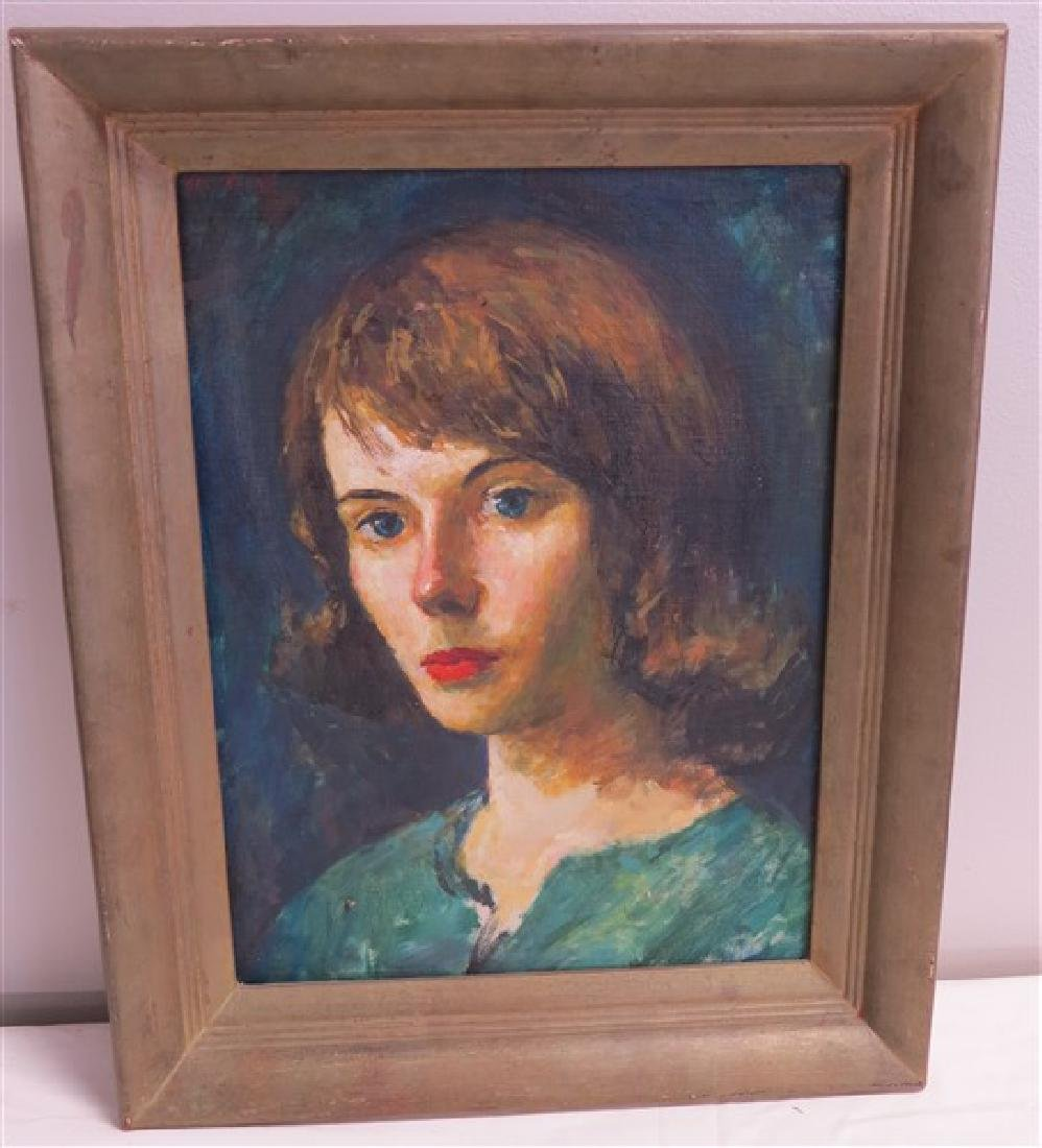 Lovely Framed Portrait of a Woman- o/b