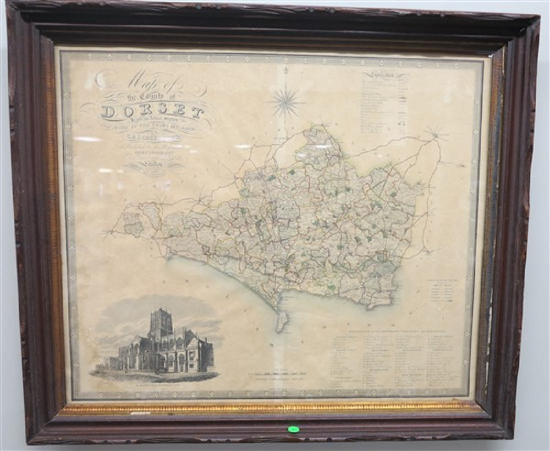 Framed Dorset County Map