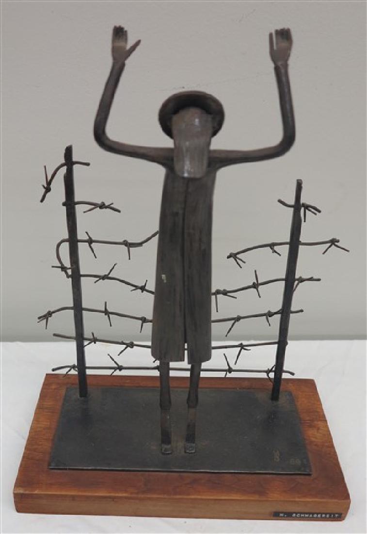 H. Schwagereit Metal Sculpture on Wooden Plinth