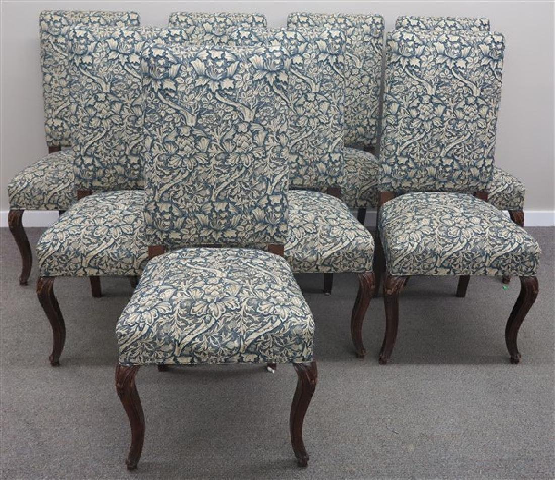 8 Upholstered French Style Side Chairs