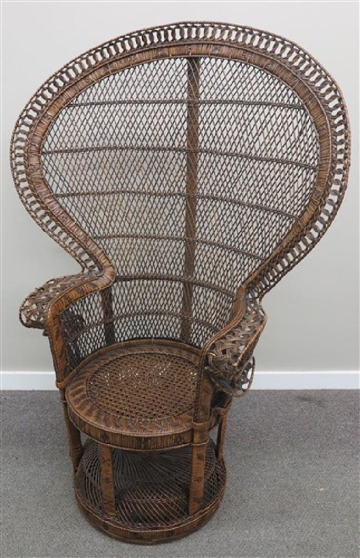 Wicker Throne Chair