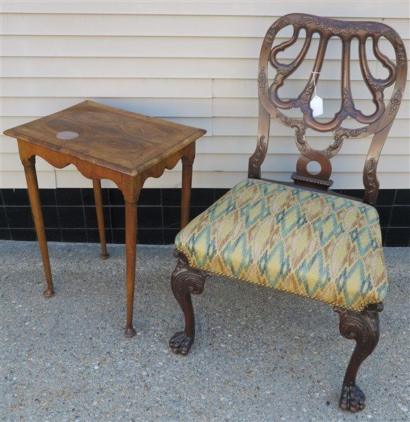 Nice Period Side Chair & Occasional Table