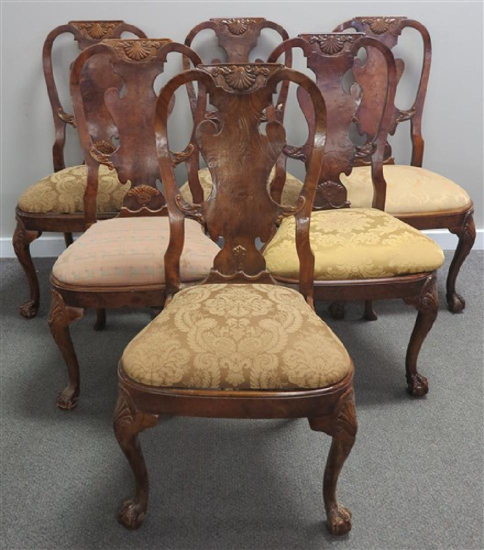 Set of 6 Queen Anne Style side Chairs