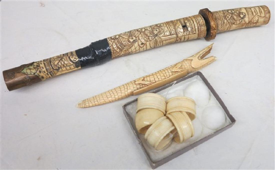 A Lot of Carved Oriental Items