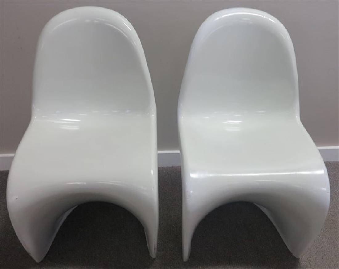 2 Molded Mid Century Chairs