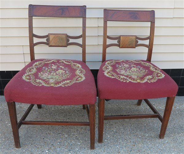 2 Needlepoint Side Chairs
