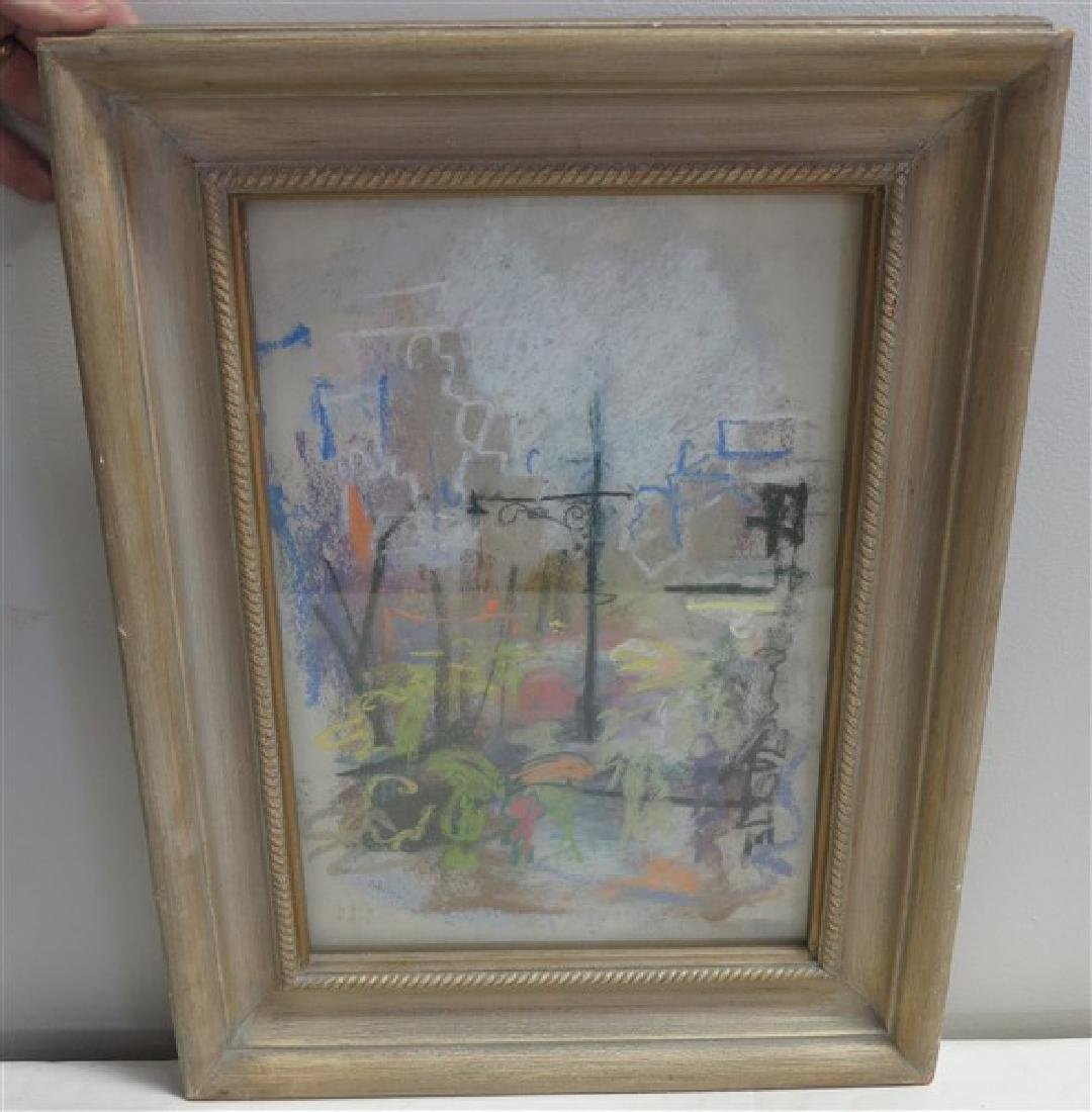 Framed Impressionist Watercolor Adibix(?)