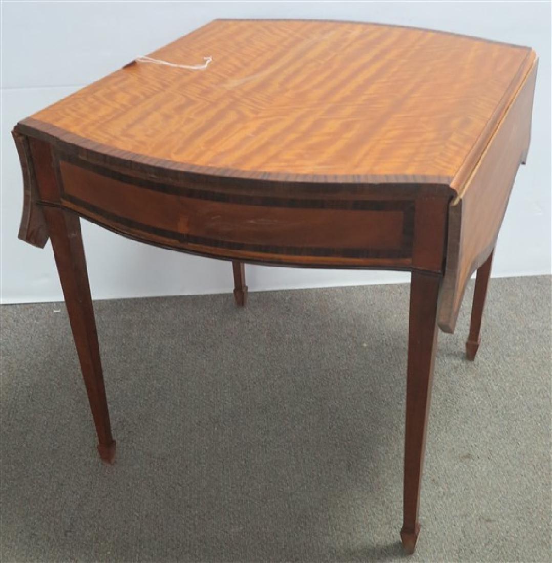 Satinwood & Mahogany 1 Drawer Table