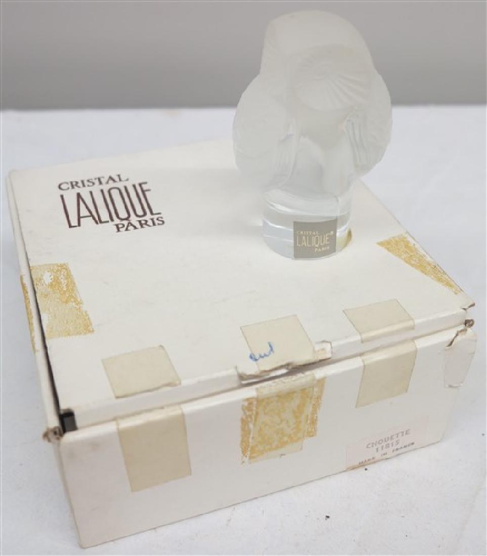 "Lalique Crystal Owl- 4"""