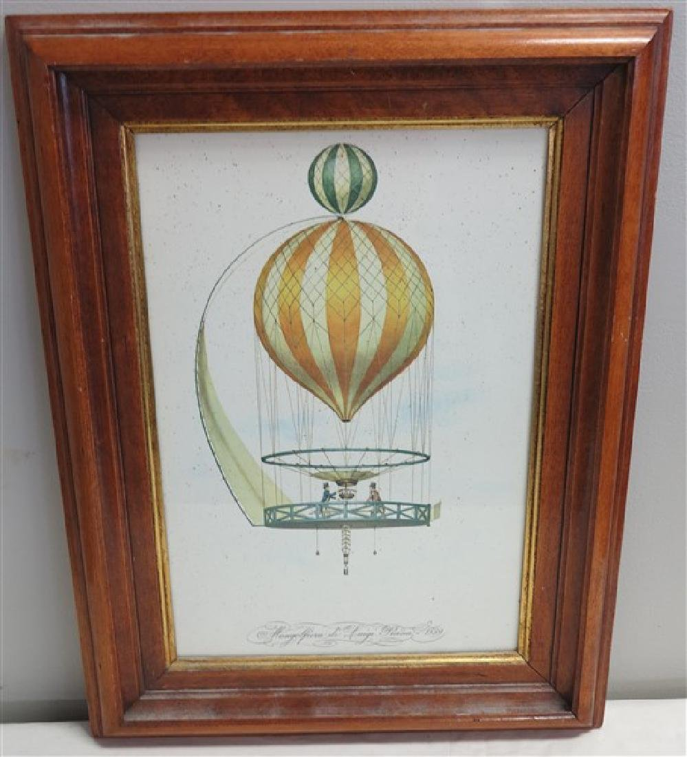 French Hot Air Balloon Print