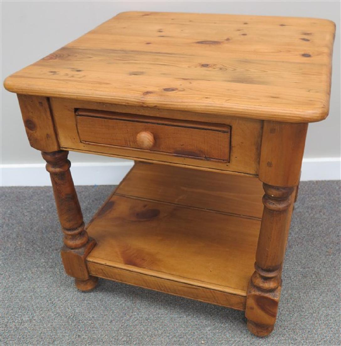 1 Drawer Pine End Table