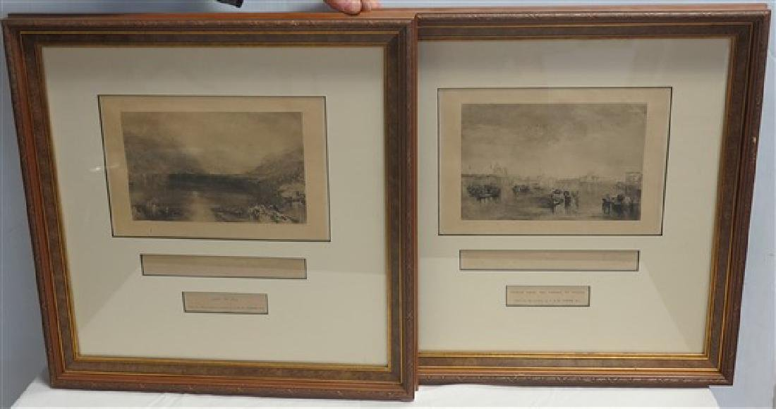 2 Framed JM Turner Prints