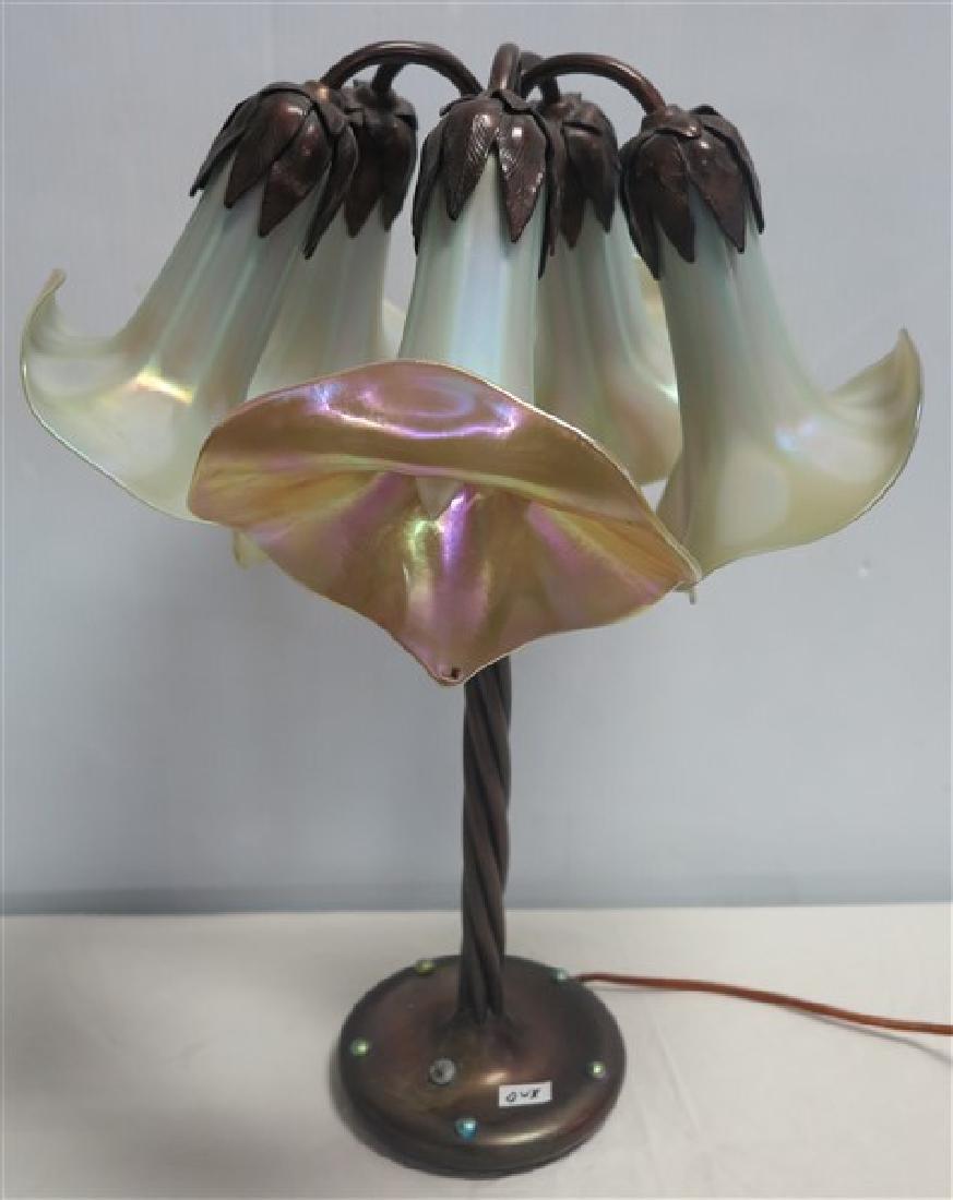 High Quality 5 Arm Boudoir Lamp