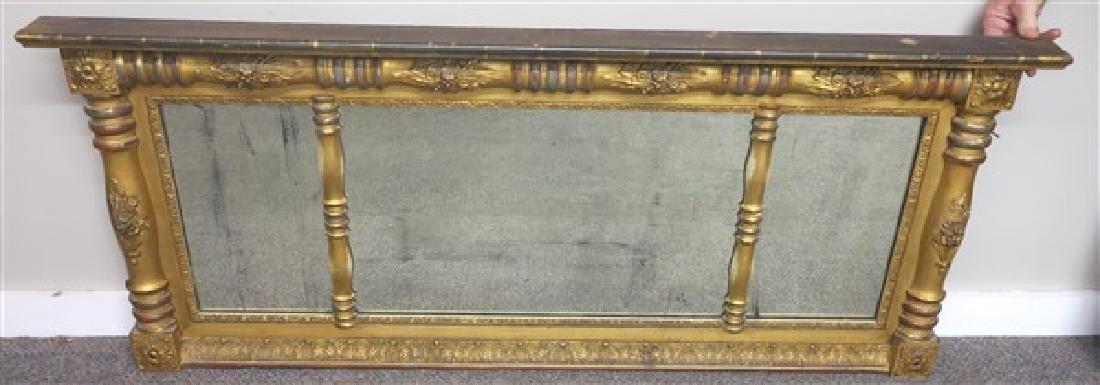 3 Part 19th Century Gilt overmantle Mirror