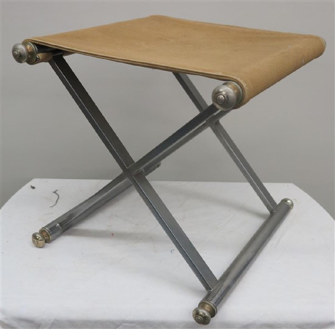 """x"" Base Chrome Stool"