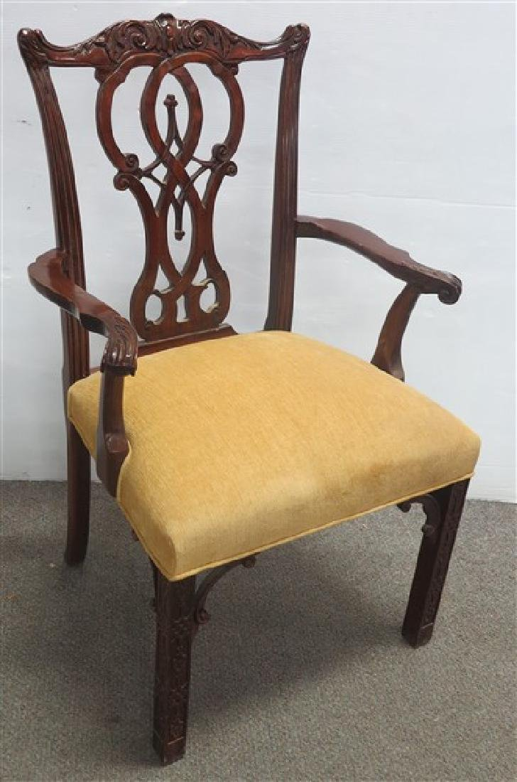 Single Custom Chineses Chippendale Arm Chair