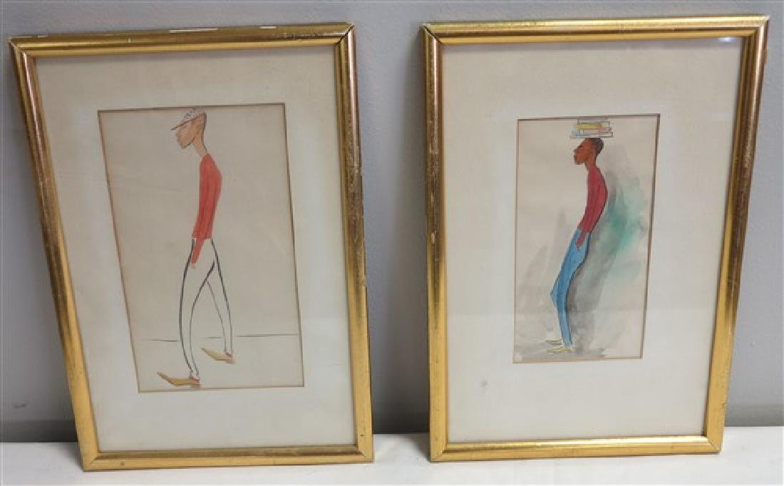 2 Small Framed Drawings