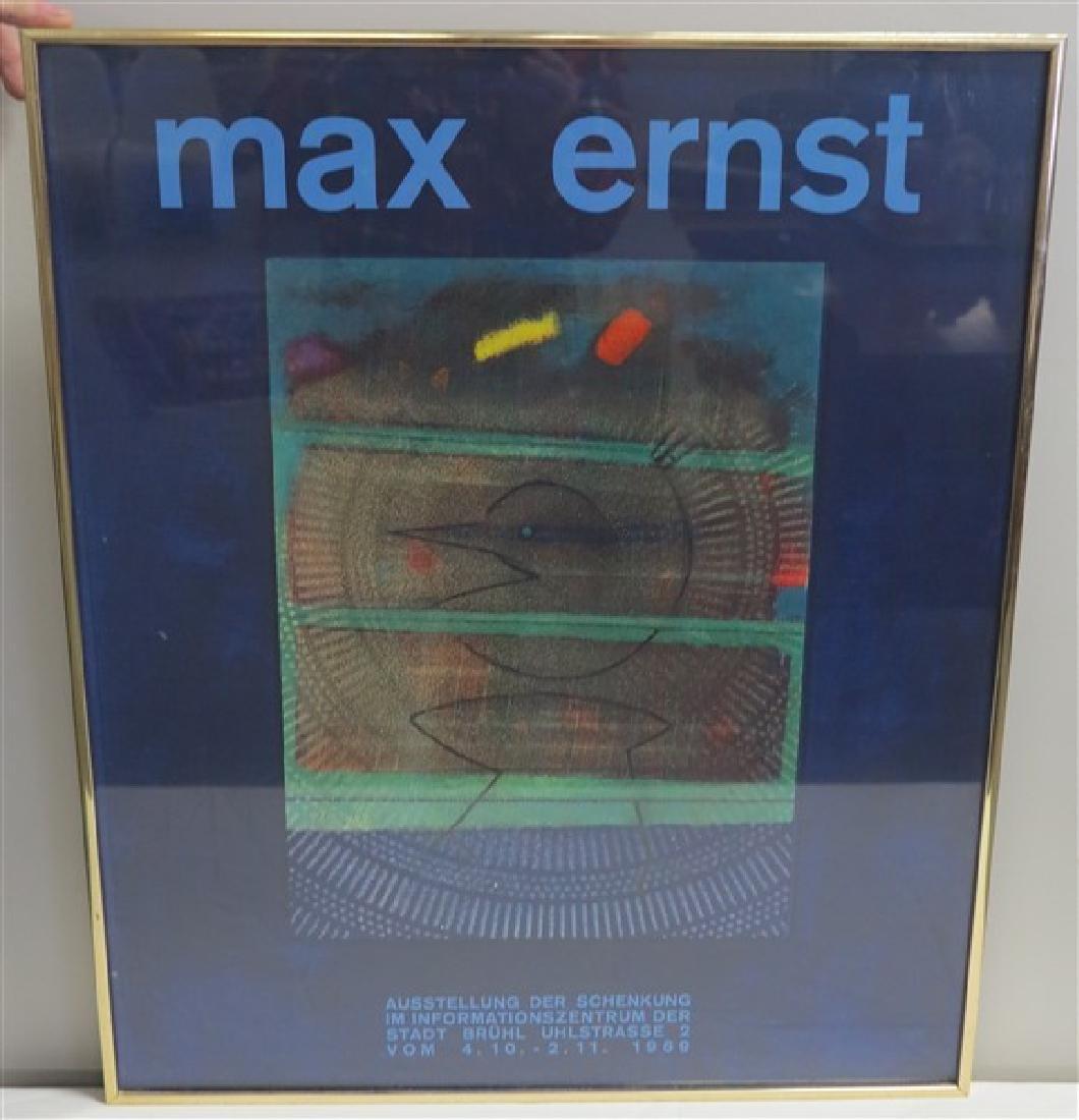Framed Max Ernst Gallery Poster