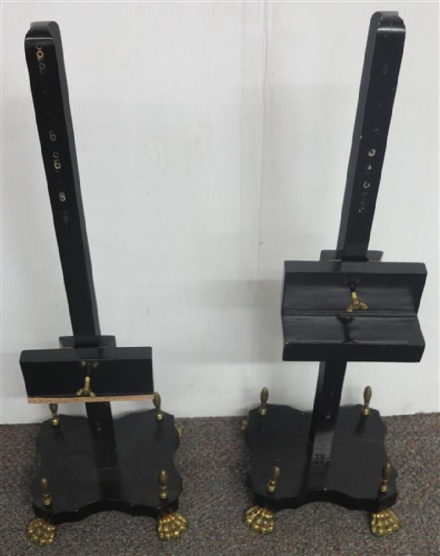 2 Ebonised Dresser Easels