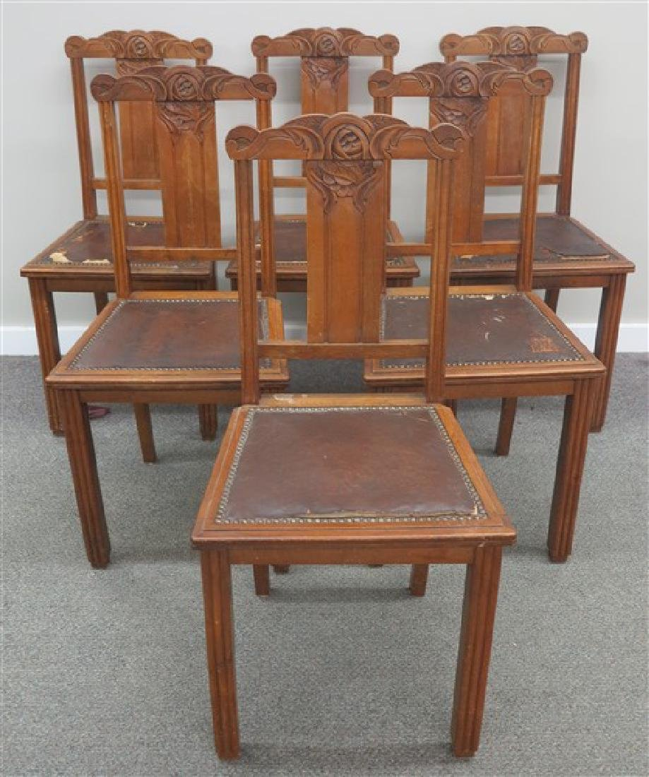 6 English Side Chairs