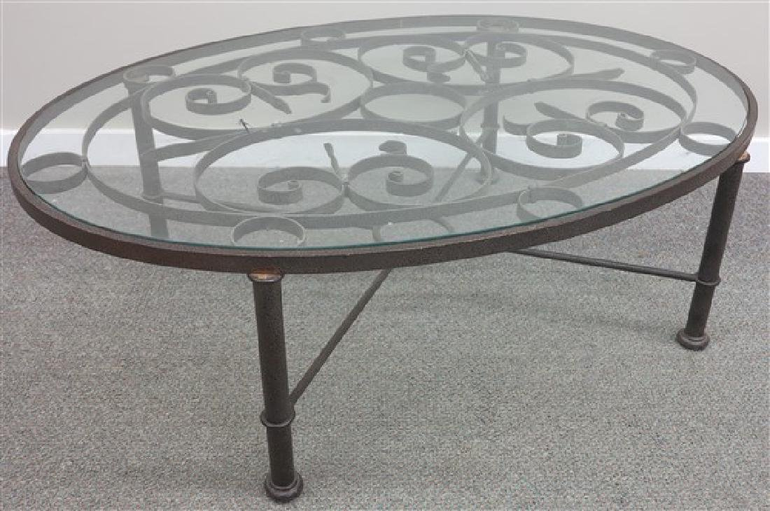 Stylish Glass & Iron Coffee Table