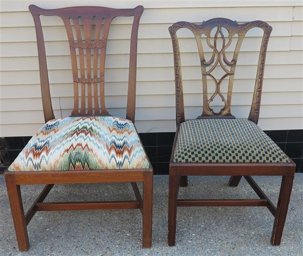 2 Chippendale Side Chairs