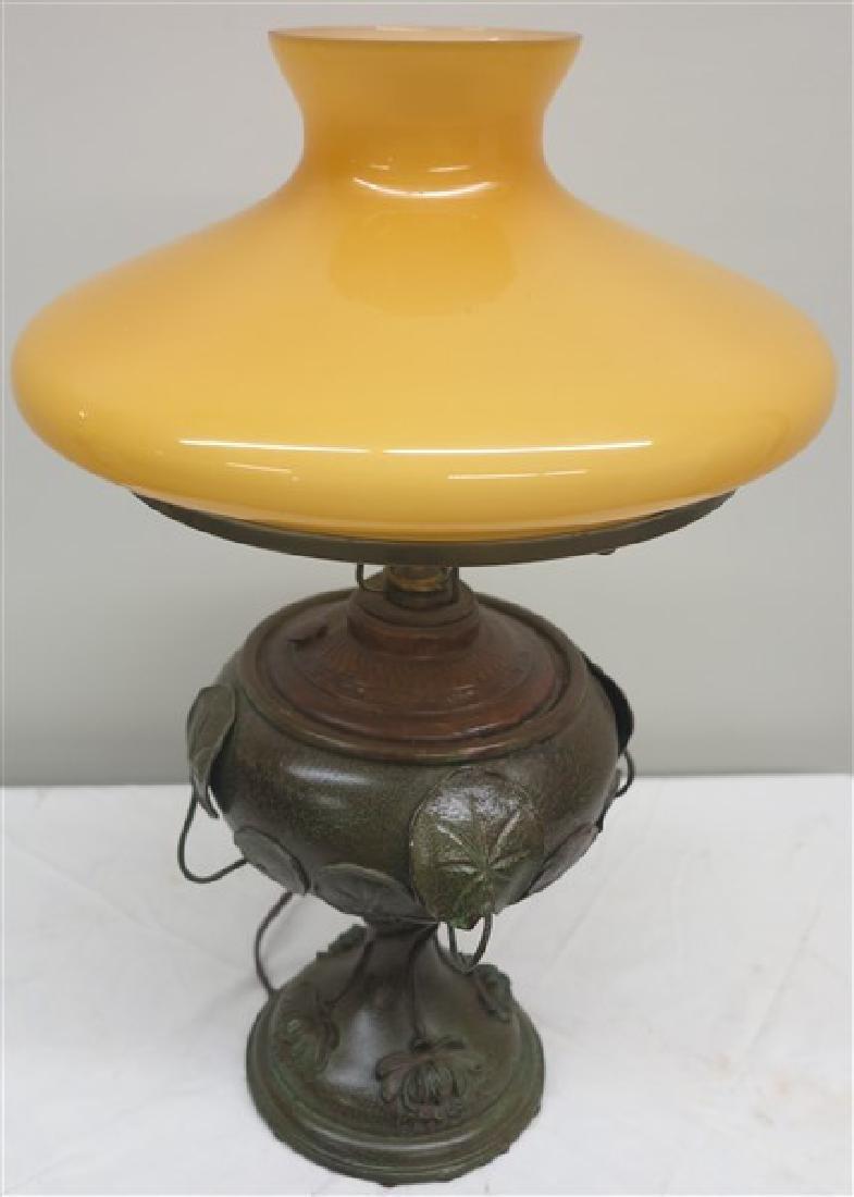Lamp w/ Yellow Shade