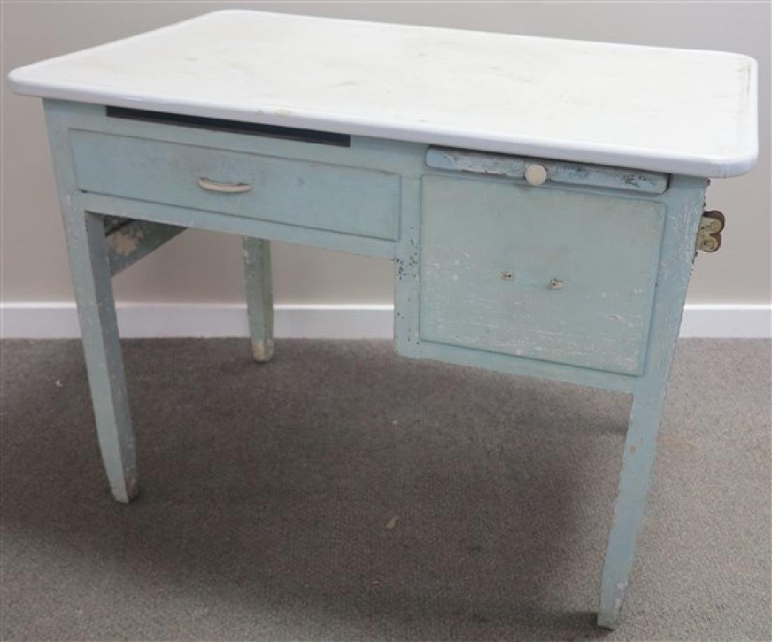 Enamel Top Work Table