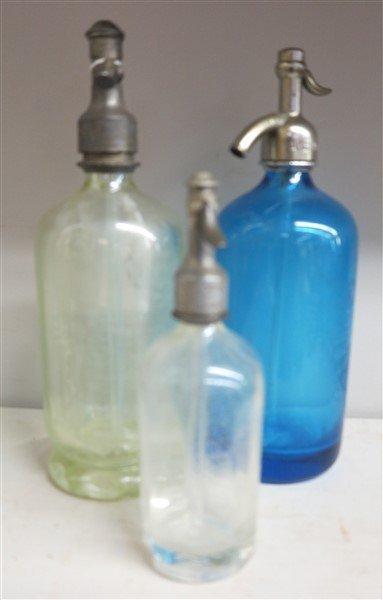 3 Seltzer Bottles