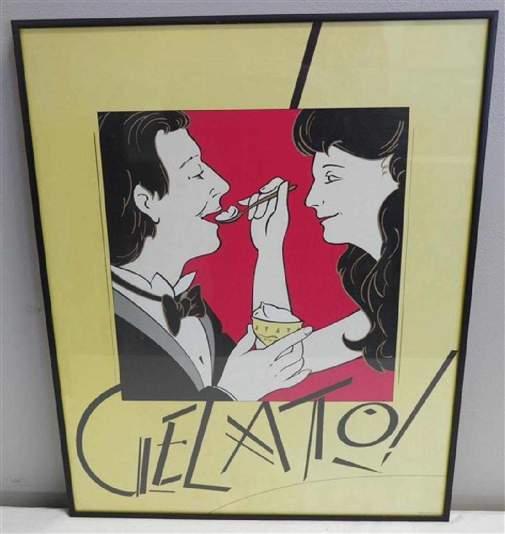 Gelato Poster from Dryden Gallery