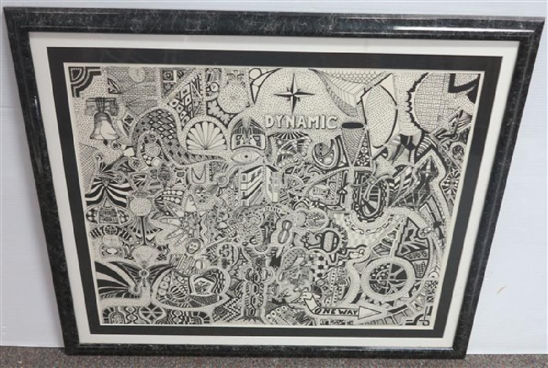 Framed Psychedelic Print