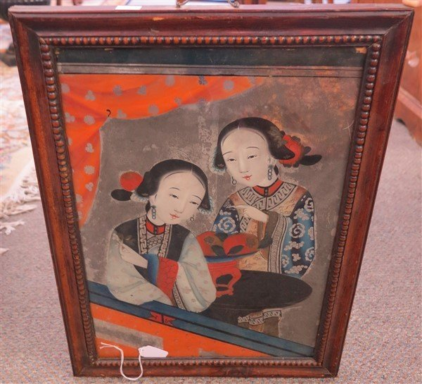 Japanese Reverse Painting on Glass